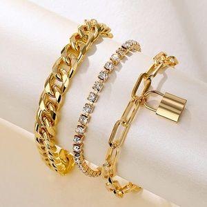 Gold Layered Dainty Bracelets NEW